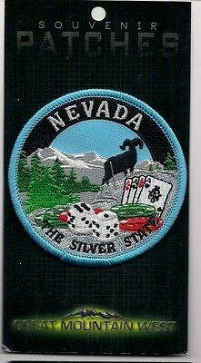 State Of Nevada Souvenir Patch - The Silver State, Las Vegas