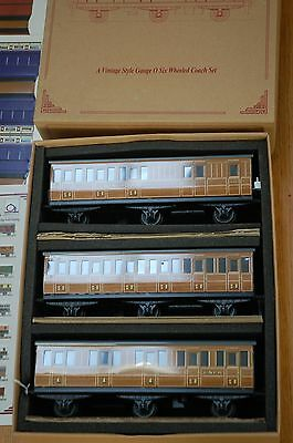 Ace/ Darstaed Trains O Gauge Lner 3 Coach 2-2-2  Set With Its Original Box Nmib