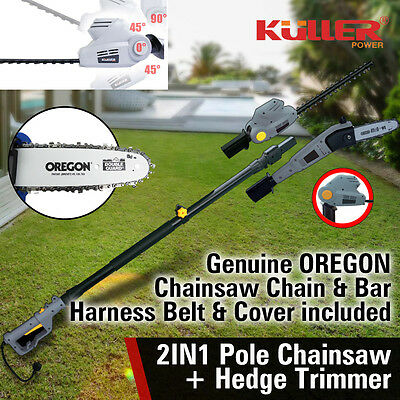 NEW Electric Pole Chainsaw Hedge Trimmer OREGON Chain Saw Bar Garden Tool Cutter