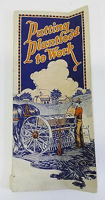 Early Putting Plant Food to Work Fertilizer Farm Vintage Booklet