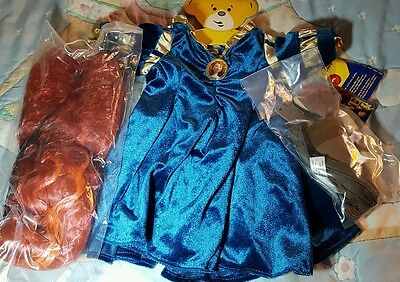 Disney Priness Brave build a bear Costume Set with Wig and Arrow Set  New