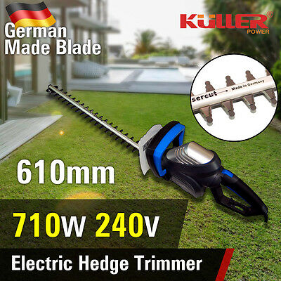 NEW Electric 240V 710W Hedge Trimmer German Blade Commercial Grade Garden Tool