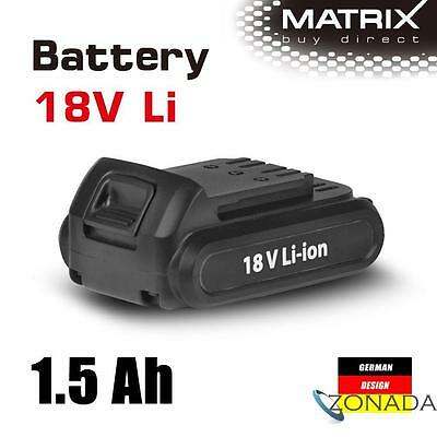 NEW MATRIX 18V Lithium Battery 1.5 Ah Rechargable for Power Tools