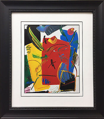Peter Max Flower Abstract Color Lithograph Hand Signed Vintage Pop