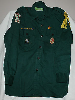 1960s VINTAGE 1st ST THOMAS BOY SCOUTS SHIRT PATCHES BADGES CANADA size 13