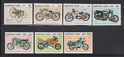 Burkina Faso 1985 Motorcycles Sc 689-695 complete mint never hinged