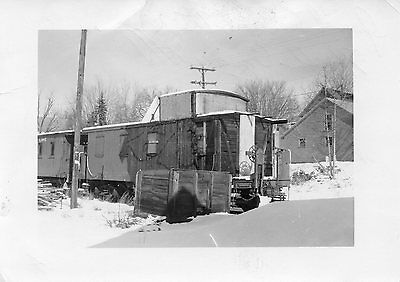Y963A Rp 1977 Grand Trunk Railroad Caboose #75955 After Fire North Conway Nh