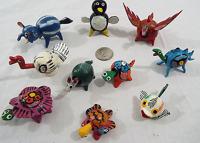 Lot of 10 Assorted Bobble Head Animals Various Colors Dragon Duck Elephant Fish