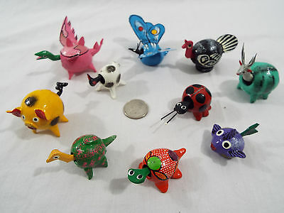 Lot of 10 Assorted Bobble Head Animals Various Colors Dragon Butterfly Pig Cat
