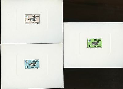 Cambodia  Sc#157/59 Who Set Of  Deluxe Souvenir Sheets  Mint Nh