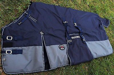 """78"""" 1200D Turnout Waterproof Horse WINTER BLANKET HEAVY WEIGHT Belly Band 517G"""
