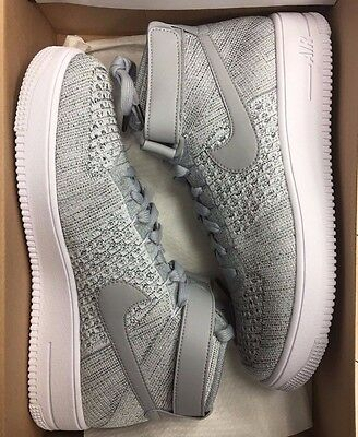 NIKE AF1 ULTRA FLYKNIT MID Wolf Grey White Air Force One