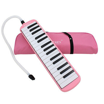 Pink 32Key Piano Style Melodica & Box Organ Accordion Mouth Piece Blow Key Board