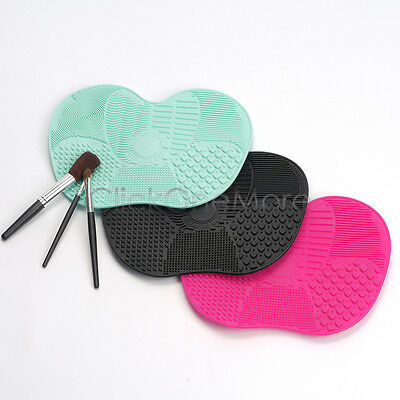 Silicone Makeup Cosmetic Brush Cleaner Mat Cleaning Scrubber Board Pad Tool