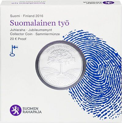 "2016 Finland 20 Euro Silver Proof Coin ""Finnish Work"""