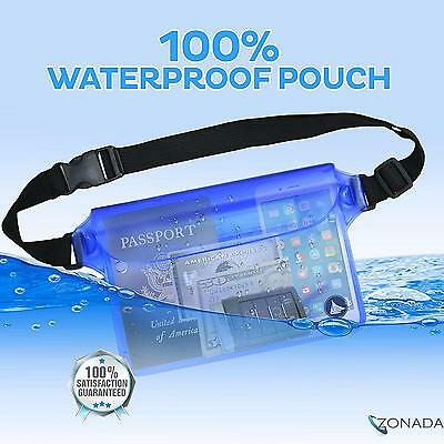 New Zonada Waterproof Dry Bag Pouch Waist Belt Bum Bag Swimming Boating Beach