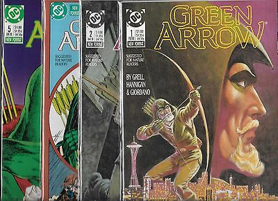 Green Arrow Lot Of 4 - #1 #2 #4 #5 (Nm-) Mike Grell, Copper Age Series