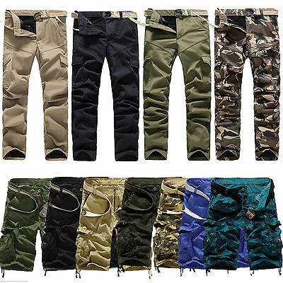 Men Trousers Army Camouflage Casual Pants Military Work Cargo Camo Combat Shorts