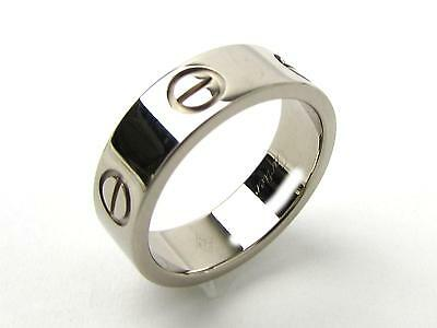 Authentic Cartier Love Ring 18K White Gold Wedding Band #50