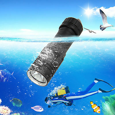 Buceo 5000Lm XM-L2 LED linterna antorcha luz submarino lámpara 18650/26650 flash