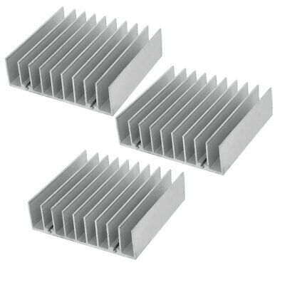 76mm x 70mm x 21.5mm Aluminum Heat Radiator Heatsink Cooling Fin 3PCS