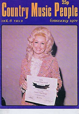 DOLLY PARTON / BILL ANDERSON / BRIAN MAXINE Country Music People Feb 1975