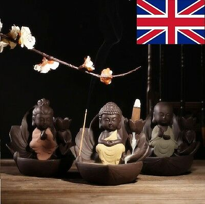 Ceramic Handicraft  Backflow Cone Decor Incense Burner holder Variations Type