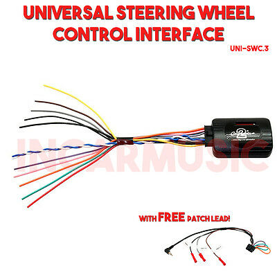 Universal Car Steering Wheel Control Interface Adaptor + Free Multi Patch Lead