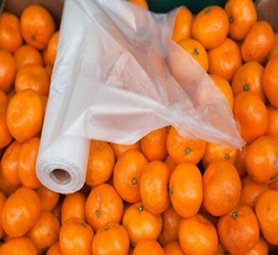 """11"""" x 17"""" Clear Perforated Produce Grocery Supermarket Bag (16 Rls) 12000 Bags"""