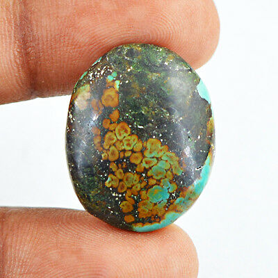 16.70 Cts Natural Untreated Loose Oval Shape Turquoise Gemstone - Best Offer
