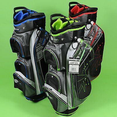 Genuine PRO-TEKT Golf Cart Trolley Bag 15-Way Divider Top All Colours New 2017
