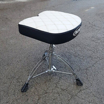 Mapex Drum Stool Special Edition White, Threaded Shaft USED! RKMS040217
