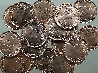 1980 Decimal Halfpenny; 10 Stunning BU coins from Mint Bag - FREE POSTAGE (S106)