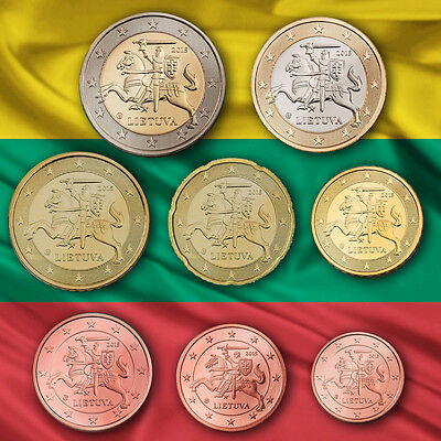 Lithuania Lithunia Euro Kms Currency Coin Set Coins 2015 Unc Bu St