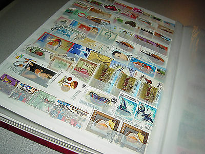 World  large mix collection stamps in stock book