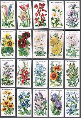 1910 Wills's Cigarettes Old English Garden Flowers Tobacco Cards Complete Set