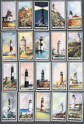 1926 Wills's Cigarettes Lighthouses Tobacco Cards Complete Set of 50