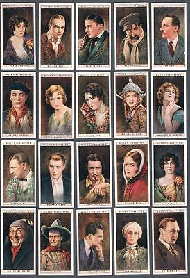 1928 Wills's Cigarettes Cinema Stars 1st Series Tobacco Cards Complete Set of 25