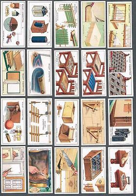 1927 Wills's Cigarettes Household Hints Tobacco Cards Complete Set of 50