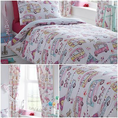 Reversible Glamping Campervan Festival Duvet Quilt Cover Bedding Sets 4 x Sizes
