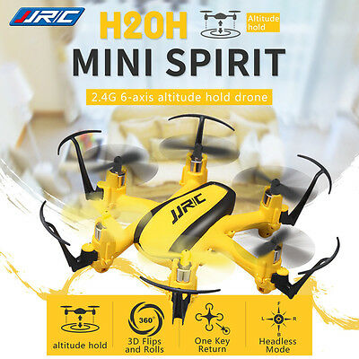 JJRC H20H Mini Quadcopter RC 2.4G 4CH 6 Axes Lumière LED Headless Mode Jaune