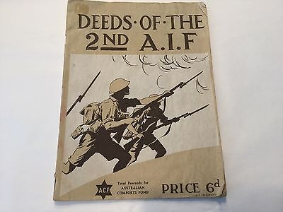"""Booklet """"Deeds of the 2nd A.I. F."""" (Australian Imperial Force) WWII original"""
