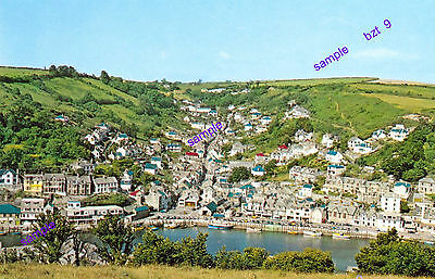 Cornwall Looe Grand View Of Village,quayside,cliffs And Valley=Wonderful