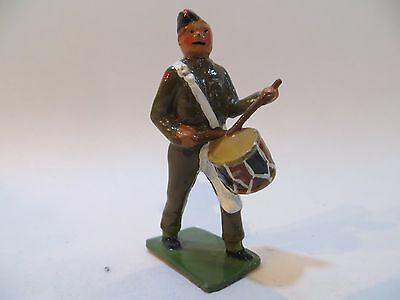 CRESCENT TOYS SOLDIER/DRUMMER FROM MARCHING BAND LEAD FIGURE. 1:32/54mm VGC