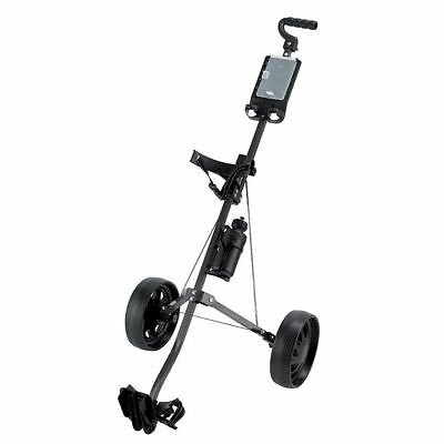 """NEW 2017"" Ben Sayers Aluminium 2 Wheel DELUXE Pull/ Push Golf Cart Trolley"