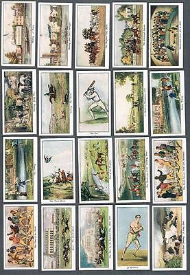 1930 Stephen Mitchell & Son Old Sporting Prints Tobacco Cards Complete Set of 25