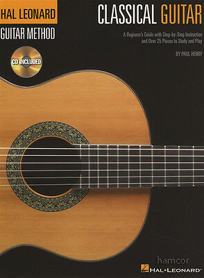 Hal Leonard Classical Guitar Method Music Book/CD Learn How to Play for Beginner