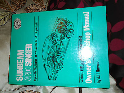 Haynes Sunbeam / Singer Manual1955 / 65  Alpine Rapier Gazelle Vogue /  Hardback