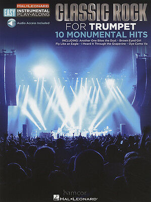 Classic Rock for Trumpet Easy Instrumental Play-Along Music Book & Audio