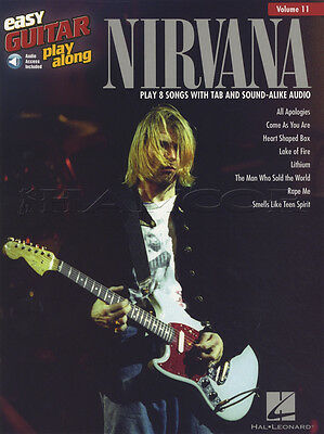 Nirvana Easy Guitar Play Along Sheet Music Book with Audio